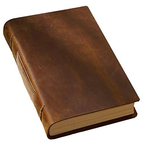 LEDER NOTIZBUCH JOURNAL Tagebuch, reisetagebuch zum selberschreiben, paperblanks notizbücher, als Skizzenbuch,tagebuch für erwachsene (Braun)
