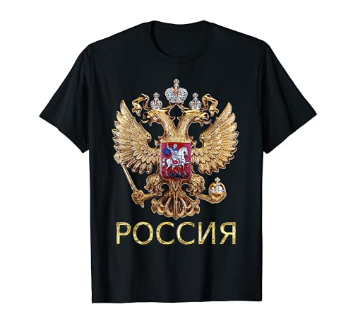 Russisches T-Shirt: Russland Adler Flagge