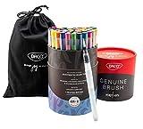 DACO Genuine Watercolor Paint Brush Pens & Water Brush, Brush...