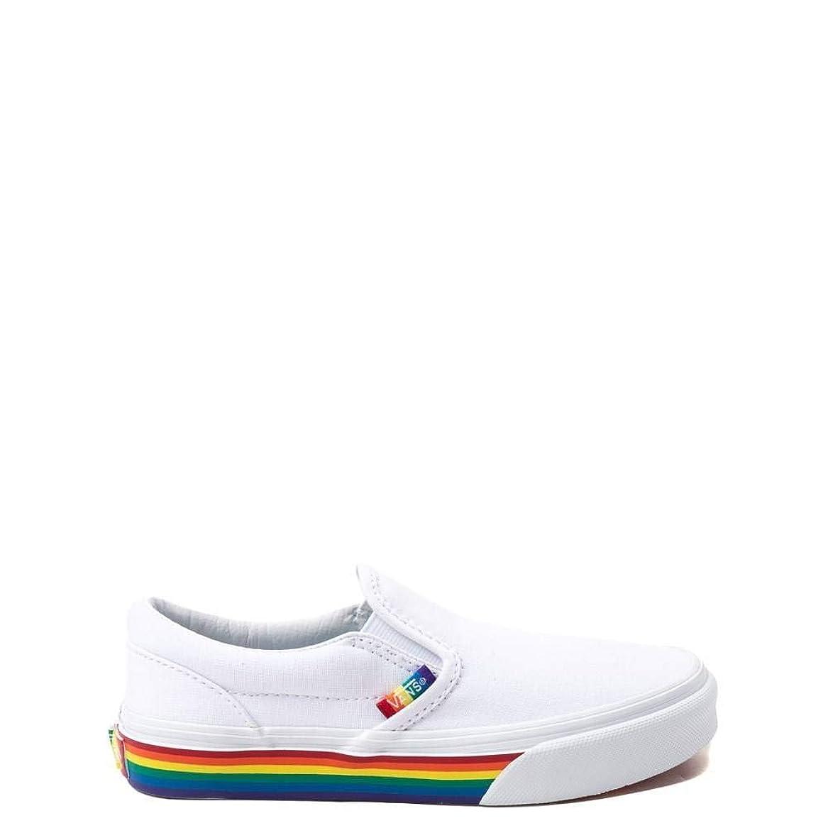チャペルハイジャック優しい[バンズ] 靴?シューズ スニーカー Slip On Rainbow Skate Shoe - Little Kid/Big Kid ホワイト/マルチ US 1 (19cm) [並行輸入品]