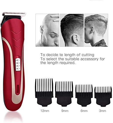 Ciseaux pour couper les cheveux coupés de cheveux Professionnels électriques cheveux Tondeuse coupe de cheveux for les enfants L'homme adulte Anti Slip Set Scissor réglable 220 V-Noir Argent