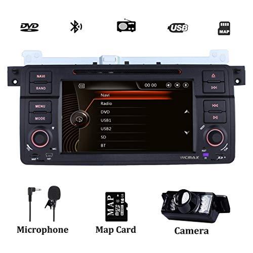 Radio estéreo del coche para BMW E46 1999-2004 Navegador por satélite de 7 pulgadas con reproductor de DVD Soporte de navegación GPS Control del volante Pantalla táctil Bluetooth