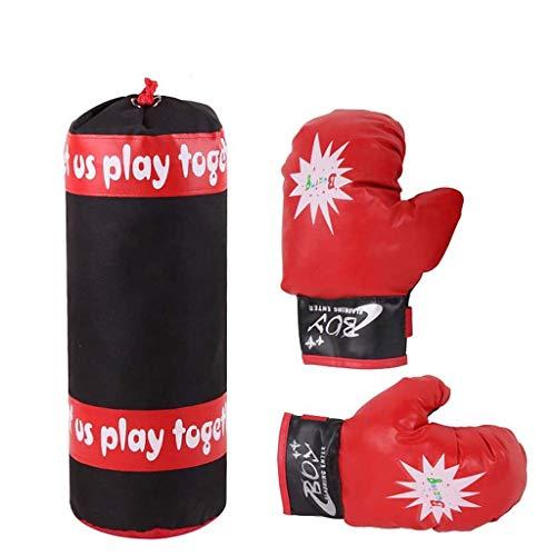 XHLLX Bolsos de Tiro de los niños Bolsa de perforación, Guantes de Boxeo para niños, descompresión Infantil Bolso de Arena de descompresión Entrenamiento Guantes de Boxeo