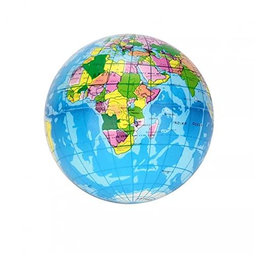 HXHAY Alivio del EstréS DecoracióN Juguete Esponja De Espuma Bola De PU Mapa del Mundo Globo Planeta Tierra Bola De ApretóN Juguete para NiñOs 2.48in / 2.99in