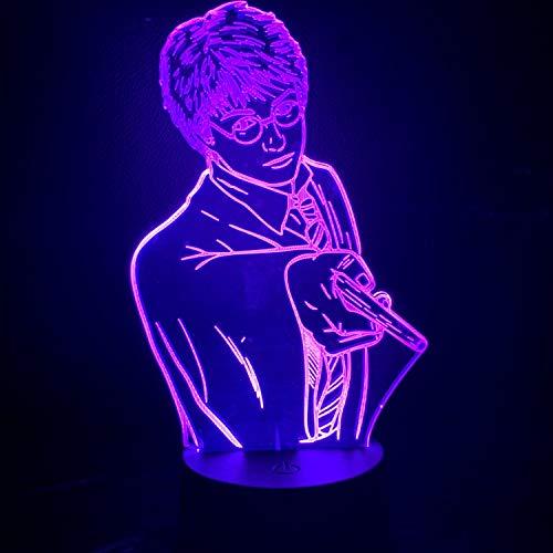 Lámpara De Ilusión, Luz Nocturna Acrílica 3D Harry Potter, Gradiente Con Luz Nocturna Táctil De 7 Colores