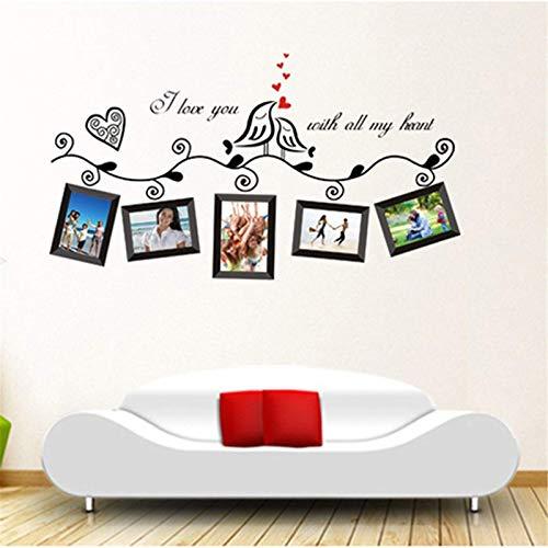 Zjcpow Pegatinas de pared para marco de fotos de arte de pared, pegatinas románticas para decoración de habitación de boda