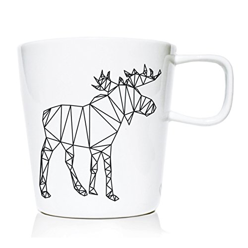 We Love Home - Tasse Mug en Porcelaine 20 cl. Style scandinave Design Origami I