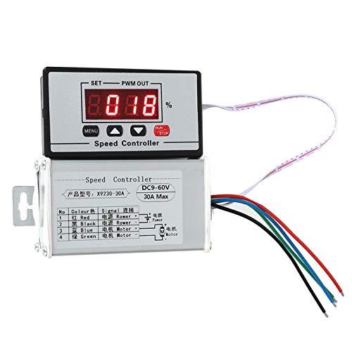 Motor Speed Controller, DC 9-60V Motor Speed Regulator Easy Reading for Industry for Professional Field