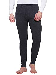 Bodycare Melange Black Solid Men Thermal Lower
