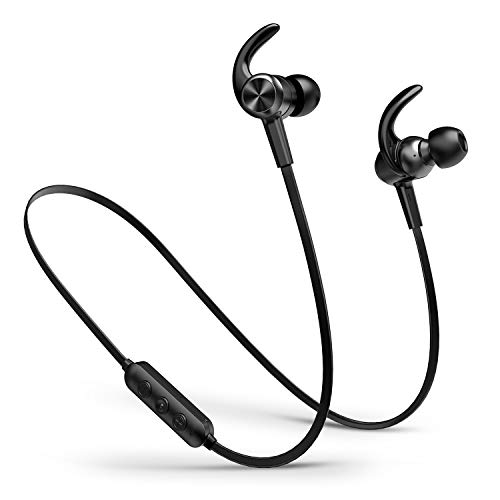 Picun Bluetooth Headphones, IPX7 Waterproof Bluetooth Earphones with Magnetic Connection, HiFi Bass Stereo Sweatproof Earbuds w/Mic, for Workout, Running, Gym, 10 Hrs Playtime