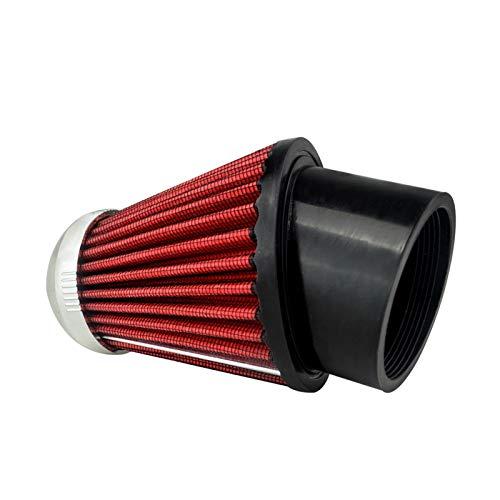 Cuello 62mm Motocicletas Profesionales Cabeza Aire Admite Filtro Limpiador Rojo WLR-AIT23 (Color : A)