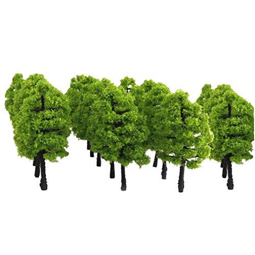 Hiinice 20pcs 1: 100 Modelos De Árbol Artificial Mini Modelo Árboles En Miniatura De La Planta Verde Claro Herramientas Convenientes