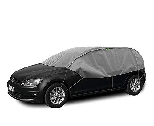 Abdeckplane Halbgarage Sonneschutz, Schneeschutz, UV Schutz, Winter & Sommer Größe M-L kompatibel mit VW Golf VII