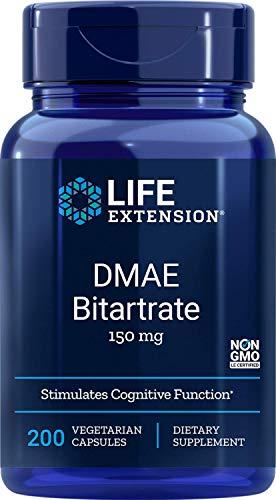 DMAE Bitartrate dimethylaminoethanol 150 mg 200 vegetarian capsules