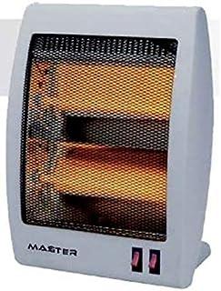 Master QZ800 Estufa alógena, 400 W, Blanco