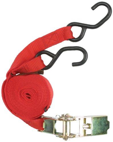 Unitec 75253 - Pulpo para baca de Coche (Hebilla de carraca y Gancho, 5 m), Color Rojo