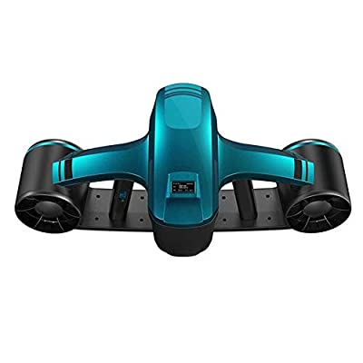 ZZC Water Scooter Underwater Automatic Floating 148Wh Large Capacity Underwater Propeller Dual Speed Underwater Propeller Diving Pool Scooter Water Sports -Upgraded,Green