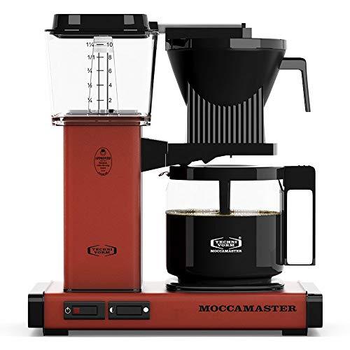 Allshiny Tostadora 59607 KBG, cafetera para 10 Tazas, 40 oz, Rosa (Color : Brick Red, Size : Coffee Brewer)