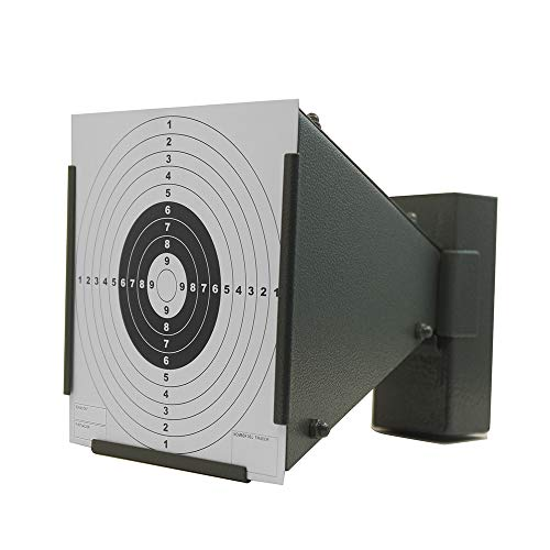COSMOING Pellet Trap, BB Trap Target with 100 Papers Target Wall-Mounted for Airsoft Air Rifles Air Gun Indoor Outdoor Shooting Training