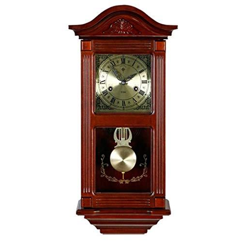 Reloj de pie péndulo pared ClockOperated cuarzo del reloj de péndulo de madera silenciosa, decorativo reloj de pared del péndulo for sala de estar, oficina, cocina Decoración del hogar regalo del