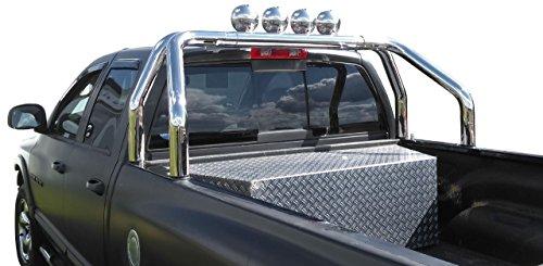 Edelstahl Überrollbügel 76 mm für Pickup's - universell passend - verstellbar passend für Ladeflächenbreite von 1700-1900mm.