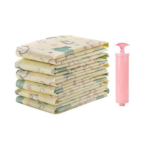 MIAO. Niet-geweven stof Stofzuiger Opbergzakken met Hand Pomp, Herbruikbare Space Saver Tassen voor kleding, Vacuüm Seal Tassen