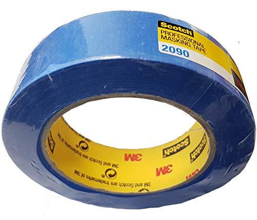 Scotch Super Malerabdeckband Kreppklebeband 209030 30mm x 50 m, Profi-Plus Qualität, Profi-Abdeckband Malerkrepp für Außen- und Innenarbeitenfür, blau