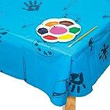 Baker Ross AC773 Blaue Plastik Tischdecke / Splashmat,150cm x 150cm