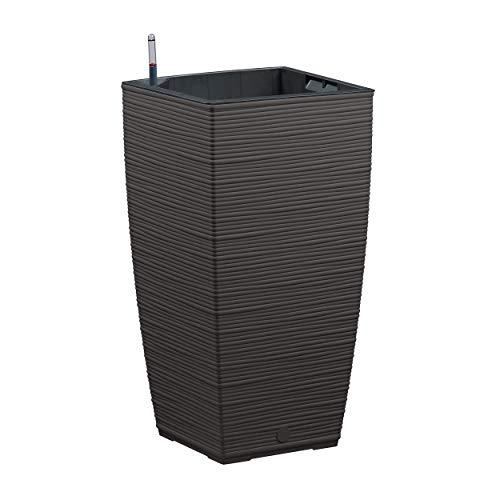 Emsa 518506 Casa Cosy Blumensäule, Aqua Comfort Bewässerungssystem, granit