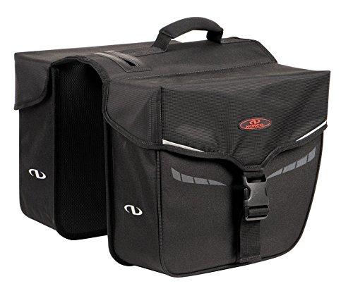 Norco Fahrradtasche Idaho Doppeltasche Doppel-tasche, schwarz, 35 x 30 x 13 cm