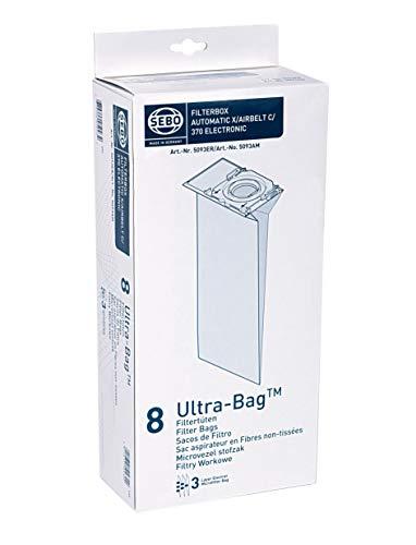 Sebo 5093ER Filterbox für Sebo Automatic X/ XP, Airbelt C, 370, G / 3-lagig mit Hygienedeckel/ 8 Ultra Bags
