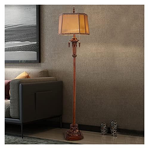 WYZ Lámpara de pie de Interruptor de Alambre de tirón, Fuente de luz LED Retro Americana, Adecuado para Dormitorio y Sala de Estar Lámpara de pie de Cama clásica