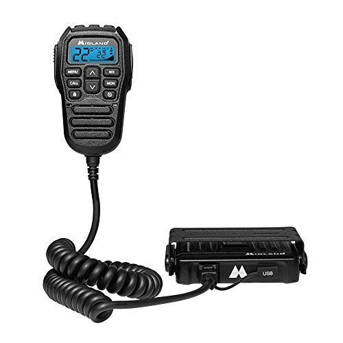 Midland MicroMobile 15W GMRS Two-Way Radio with Integrated Control Microphone