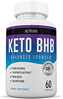 Nutriana Keto Diet BHB Pills - Ketogenic Keto Pills for Women and Men - Keto Supplement BHB Salts - Ketosis Keto Supplement Exogenous Ketones - Keto Pills 60 Capsules