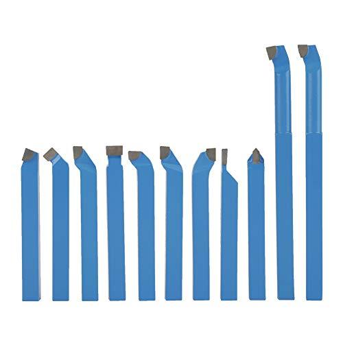 Wendeplatten-Drehmeißel, 11 Stück Hartmetall-Drehmeißel für Allgemeine Drehmaschinen Halbautomatische und Automatische Drehmaschinen 8 x 8 mm 10 x 10 mm 12 x 12 mm(Optional) (12 x 12 mm)