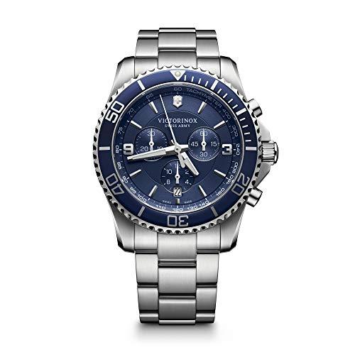 Victorinox Uomo Maverick - Orologio cronografo al quarzo in acciaio inossidabile 241689