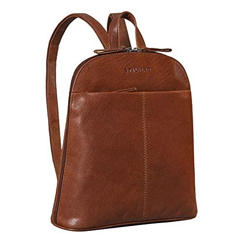 STILORD 'Olivia' City Rucksack Damen Leder Daypack Kleiner Lederrucksack Rucksackhandtasche zum Ausgehen für 9,7 Zoll iPads und 10,1 Zoll Tablets echtes Leder,...