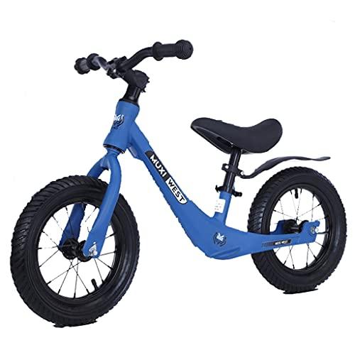 Bicicleta de Equilibrio no encadenada General estándar de 12 Pulgadas y 14 Pulgadas para niños de 2-3-6 años (Azul, Verde, Rosa)