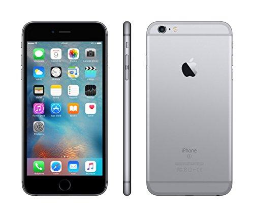 Apple iPhone 6s Plus Smartphone (13,9 cm (5,5 Zoll) Display, Plus 64GB interner Speicher, IOS) Grey (Generalüberholt)
