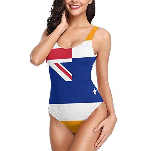 artyly Costume da Bagno Intero da Spiaggia con Bandiera dell'Unione Europea del Sud Africa Bandiera Bikini Costumi da Bagno Intero, Taglia XL