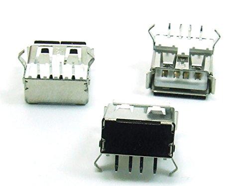 Just-Honest - 3 x Piezas/pcs. x USB A Conector hembra / Connector para / for PCB #A738