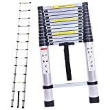 16.4ft 5M Aluminum Extension Foldable Telescopic Ladder Telescoping Straight Ladder Extendable Capacity Max