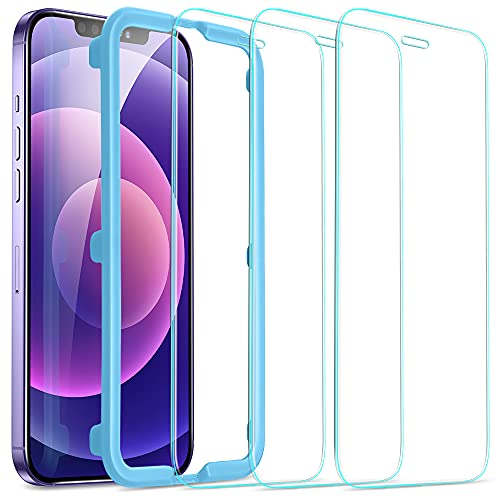 ESR Tempered-Glass Screen Protector for iPhone 12 Mini [3-Pack] [Easy Installation Frame] [Case-Friendly] Premium Tempered Glass Screen Protector for 12 Mini 2020, 5.4-Inch