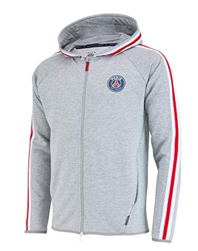 Paris Saint-Germain Herren-Collegejacke, Erwachsenengröße, offizielle Kollektion L grau