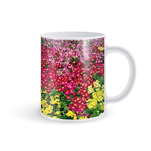 Taza de la taza de café de la mañana. Vasos de 11 oz que cambian de color para ti y tu. Taza de café termocromática de cerámica Flor de campo