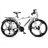 LILIS Bicicleta Montaña MTB Camino de la Bicicleta Bicicletas de montaña de la Bici Adulta de Velocidad Ajustable for Hombres y Mujeres de 26 Pulgadas Ruedas Doble Freno de Disco