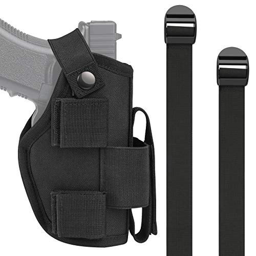 OTW Vehicle Holster Car Holster for Handgun Pistol Shotgun, Pistol, Revolver Car Holster with Magazine Slot and 2 Strap Mounts