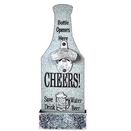 XOYZUU Abrebotellas Bar Blade Vino Cerveza Bebida, Abridores de Botellas de Camarero, Abridores de Cerveza, Abridor de Botellas de Pared con Forma de Cerveza de Estilo Vintage