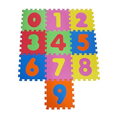 Knorrtoys 21001 – mata puzzle, 10-częściowa, mata do zabawy, dywan do zabawy, mata piankowa, kolorowa