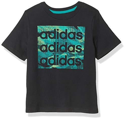 adidas Camiseta de manga corta con logo de algodón para niño